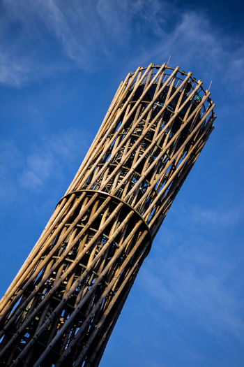 Observation Point Obsevation Tower Blue Built Structure Cloud - Sky Day Nature No People Outdoors Sky Tower Wood - Material