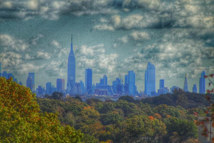Drastic Edit Cool Effect Skyline Autumn Trees Sky And Clouds Photography Just Playing Around