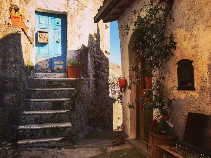 Enchanted Italian village... Enchanted Door Italian Village  Enchanted Place Architecture Window Door House Staircase Steps History Built Structure No People Building Exterior Day