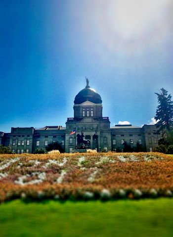 Architecture Built Structure Building Exterior Sky Outdoors Day No People Blue Dome Nature HelenaMontana State House Montana @JeffWoytovich Eyeemvision EyeEm Best Shots Travel Destinations EyeEm Selects