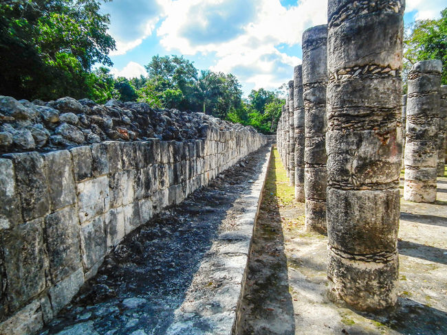 Ancient Ancient Civilization Archaeological Sites Architecture Chichen Itza Columns Diminishing Perspective History Mayan Mayan Ruins Mayan Wonders No People Outdoors Stone Material Temple Of A Thousand Warriors Temple Of Warriors The Past Yucatan Mexico Yucatan Peninsula Yúcatan