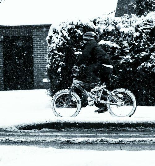 snow biking!