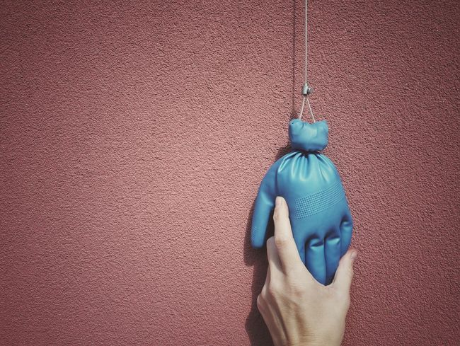 The old doorbell was broken, this is the new... twin | Doorbell Hands Blue Wave Red Wall My Hands Creative Works Getting Inspired The Street Photographer - 2016 EyeEm Awards Here Belongs To Me Outside My Door Showcase April EyeEm Italy |