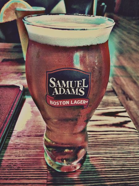 Text Food And Drink Drink Western Script Communication Close-up Refreshment Freshness Cold Drink No People Beer Samueladams