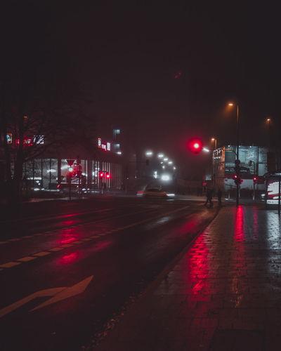 Rainy night in