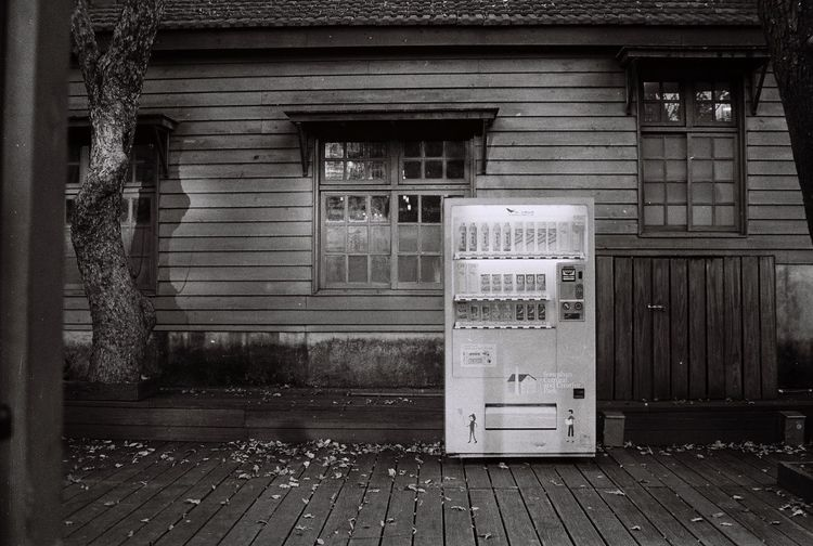 Built Structure Architecture Building Exterior Closed Outdoors Door Film House Filmisnotdead Architecture Blackandwhite No People Day Bad Condition