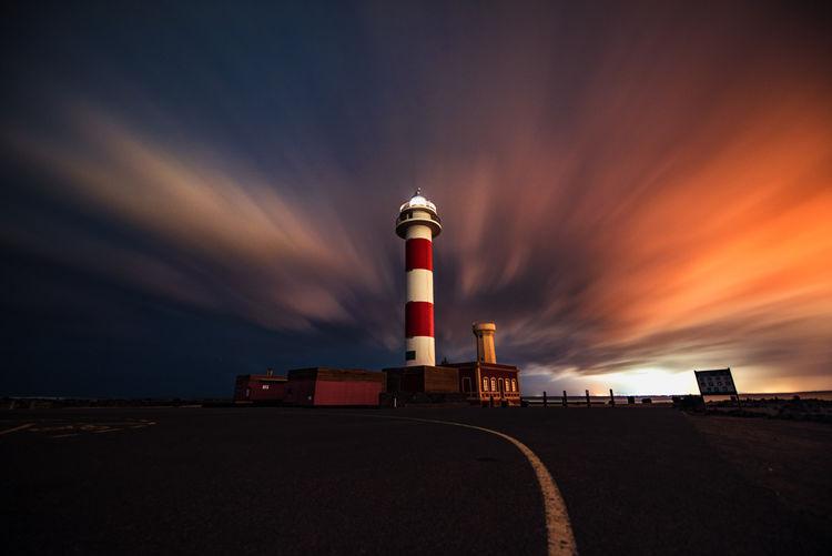 faro of fire Canary Islands Lighthouse Nightphotography Nikon Cloud - Sky Guided Photography Long Exposure Night