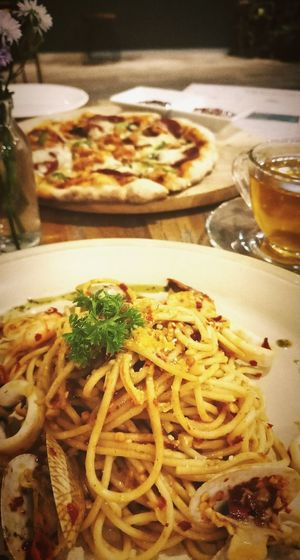 #italianfood #spaghetti Cooked Plate Gourmet Table Close-up Food And Drink First Eyeem Photo
