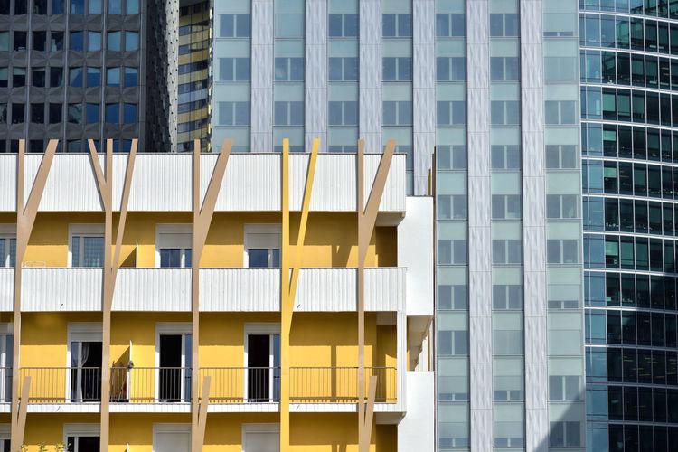Living in Yellow Europe France Paris, France  Paris La Défense Urban Façade House Modern No People Building City Building Exterior Built Structure Architecture FR250_PARIS_AK FR250_FRANCE_AK