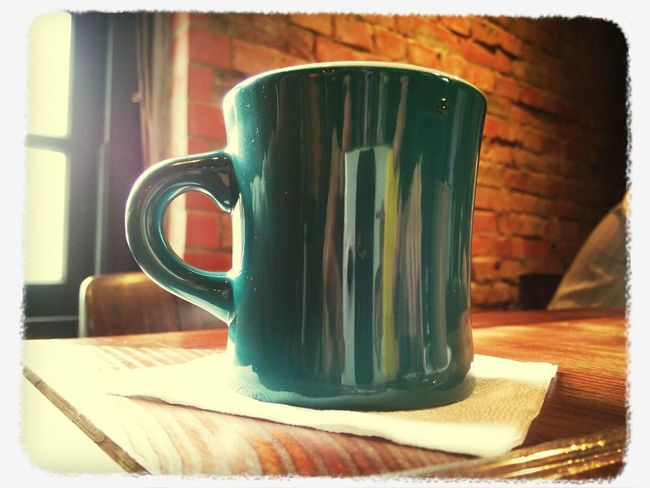 風和日麗,喝咖啡。井