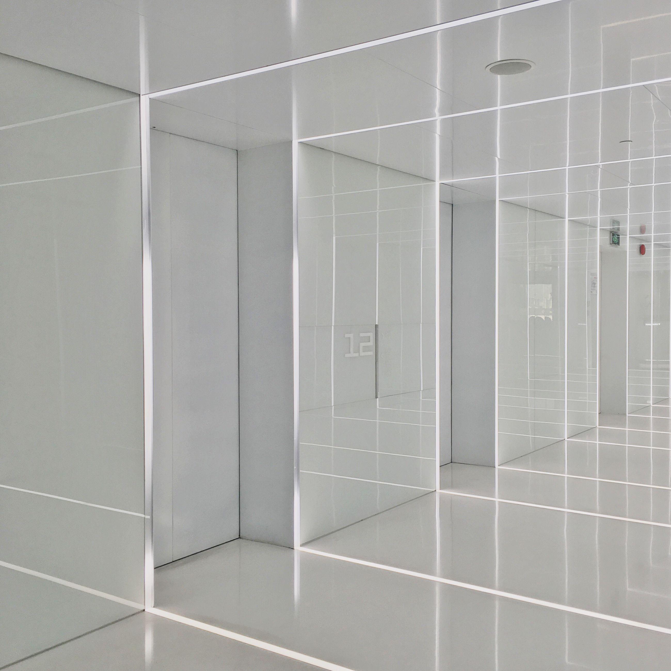 reflection, tile, modern, flooring, illuminated, no people, empty, geometric shape, full frame, backgrounds