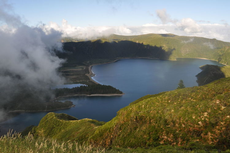 Landscape_Collection Nature Lagoon Azores Beautiful Nature Clouds Nature Photography Landscapes With WhiteWall Enjoying The View