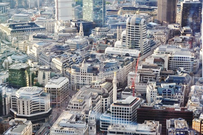High above London so many styles of buildings. Architecture London Architecture_collection LONDON❤ Building Landscape City Cityscapes Eyeem Market Design Architecturelovers Crane Taking Photos Capital Cities  Residential Structure Office Building Working Tower Outdoors City Life EyeEm Peace Pmg_lon