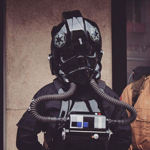 Starwars a Tiefighter Pilot TieFighterPilot DarkSide. people in costume and enjoying thier time at the carnaval karnaval in karlsplatz. Taken by MY SonyAlpha dslr a57. münchen Munich bayarn Bavaria Germany Deutschland. مهرجان كرنفال ازياء تنكريه ميونخ المانيا بافاريا