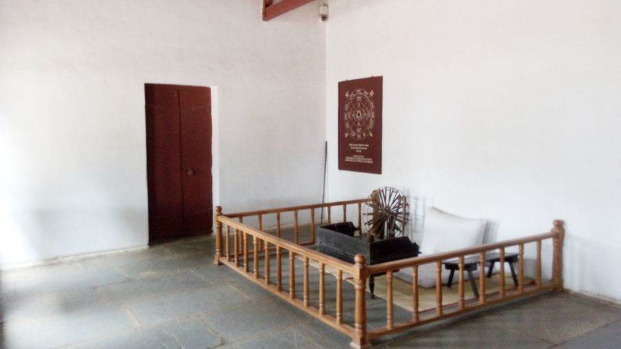 Gandhi's room EyeEm Selects Indoors  No People Architecture Seat Chair Furniture Home Interior Flooring Day Wall - Building Feature Domestic Room Table Absence White Color Empty Nature Built Structure Building Railing