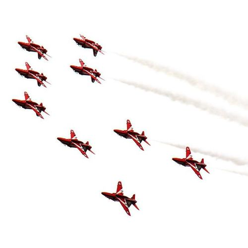 Raf Redarrows Inverted WNAS2015 wales national airshow swansea