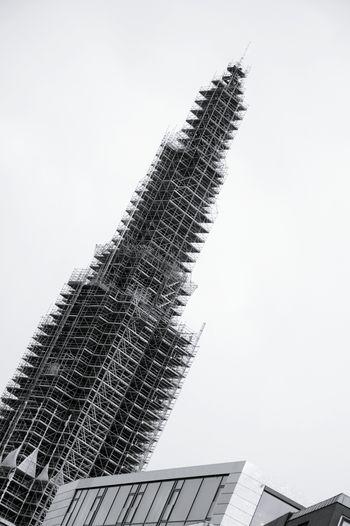 The Churchtower gets a makeover.. Nikolaikirche Hamburg Bnw Construction Site Monochrome EyeEm Best Shots - Black + White Urban Geometry Schwarzweiß Church