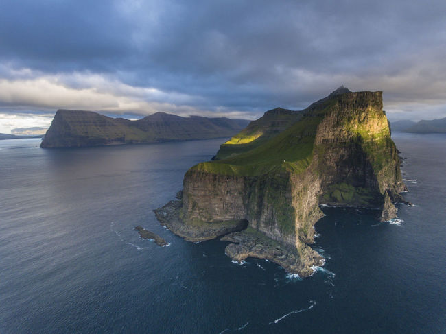 Arial Arial Shot Arialphotography Arialview Beauty In Nature Birds Eye View Cliff Cloud - Sky Coastal Feature DJI Phantom 4 Drone  Dronephotography Faroe Faroe Islands Hiking Kalsoy Kellur Mountain Nature Ocean Outdoors Sea Sky Water Waterfront