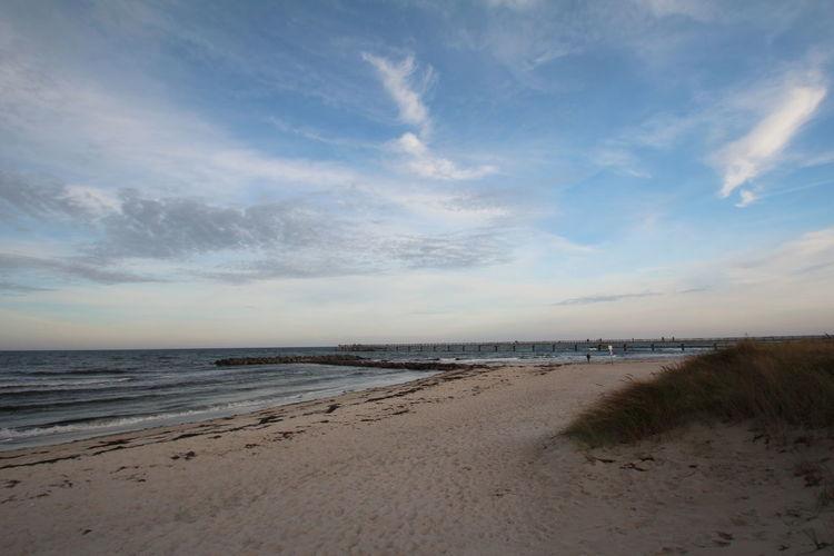 Beach mood Water Sea Beach Sky Land Scenics - Nature Cloud - Sky Beauty In Nature Tranquil Scene Tranquility Sand Horizon Over Water Horizon Non-urban Scene Nature No People Idyllic Outdoors Sunset Marram Grass