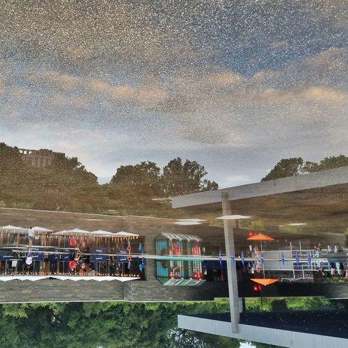 -Starry Night Sky- the splash pool in Prospect Park looked like a night scene.Like A Park Stars Reflection Water Splash Pool Rocks New York City Pivotal Ideas