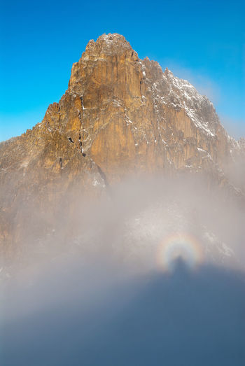 Brocken spectre at Mount Kenya Brocken Spectre Hiking Kenya Africa Atmospheric Blue Glory Halo Landscape Meteorology Mount Kenya Mountain Moutaineering Nature No People Outdoors Peak Physical Geography Scenics Sky Spectre Tranquil Scene Tranquility