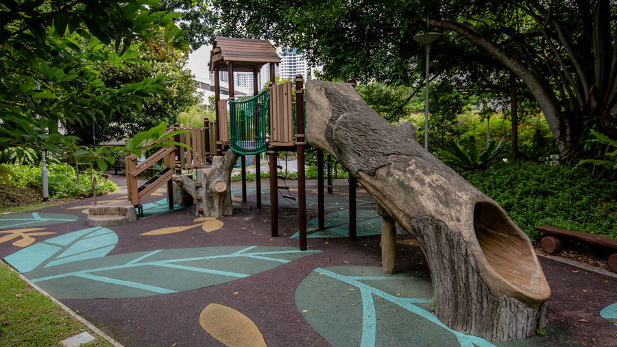 The Forest themed Playground in Rumah Tinggi Eco Park in July 2018. It blends really nicely with the surrounding trees 2 Forest Playground Public Park Themed Playground No People Outdoor Play Equipment Outdoors Public Places Public Playground