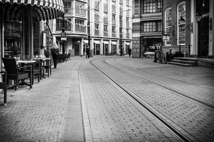 Streetphotography Street Monochrome Black And White Bw_collection BW_photography DJpictures Tramway Track Railroad Track Rail Transportation
