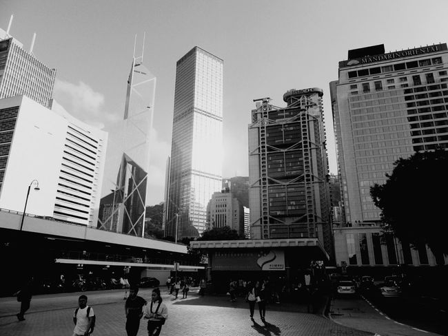Skyscraper Architecture Hongkongphotography HongKong Hongkongcity Hongkongcollection Hong Kong City Hongkonglife The Street Photographer - 2017 EyeEm Awards Hongkongstreet Street Photography Hongkong Black&white Black And White Blackandwhite B&w Street Photography Fortheloveofblackandwhite Blackandwhite Photography Hongkongskyline City Street Urban Skyline