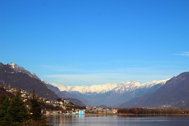 Europe Iseo Lake Italy Lake Landscape Life Lovere Mountains Nature Panorama Panoramic Snow Travel Traveling Trees Visiting Water World Here Belongs To Me Landscapes With WhiteWall