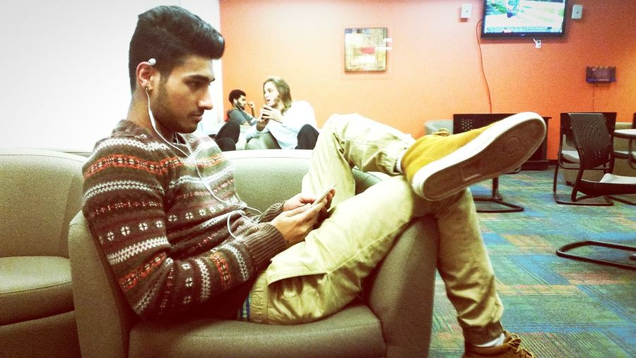 My homie Rohan Hanging Out Bergen Community College