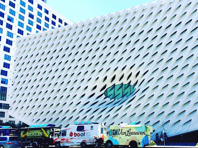 Showcase July food truck at the Broad Downtown Los Angeles Abstract Architecture Urban Architecture Collection The Broad People Together
