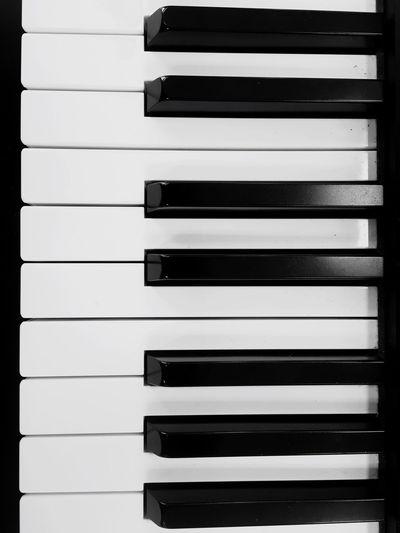Full Frame Shot Of Piano Keys