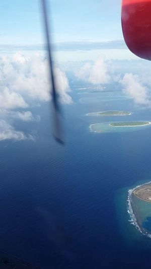 Seaplane Seaplane Ride Cloud - Sky Sea Ocean Photography Turqouise Water Flying Aerial View Water Outdoors Blue Day Sky Airplane Nature Clouds Islands Nadir