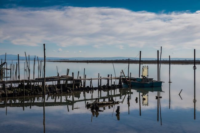 Abandoned Abandoned Places Bad Condition Boat Destruction Eye4photography  Fishing Italy Moored Nautical Vessel No People Obsolete Outdoors Pier Punta Barene Reflection Sea Sea And Sky Sky Staranzano Transportation Water Water Reflections Wood
