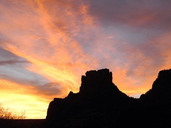Desert Sunset Silhouettes Beauty In Nature Day High Clouds Mountain Nature No People Outdoors Rock Formation Nature Natural Creation Scenics Silhouette Sky Sunset Tranquility
