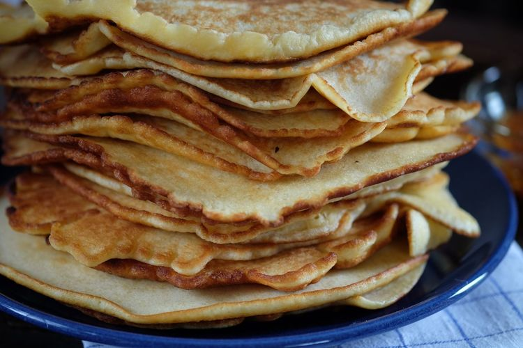 Stack On Pancakes On Plate
