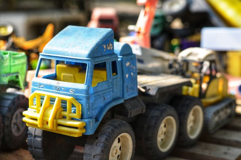 Close-up of toy cars