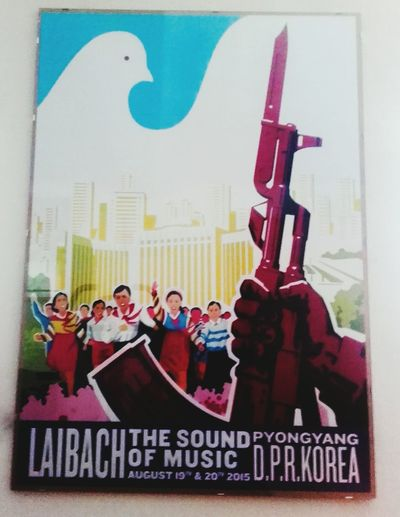 Laibach concert in North Korea Laibach Concert Posters Concerts_collection Music Poster Music Art