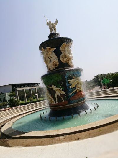 Outdoors Sky Day No People Water Fountains Hello World ✌ Check This Out Ramoji Film City, Hyderabad Angels Are Everywhere Angel Fountain