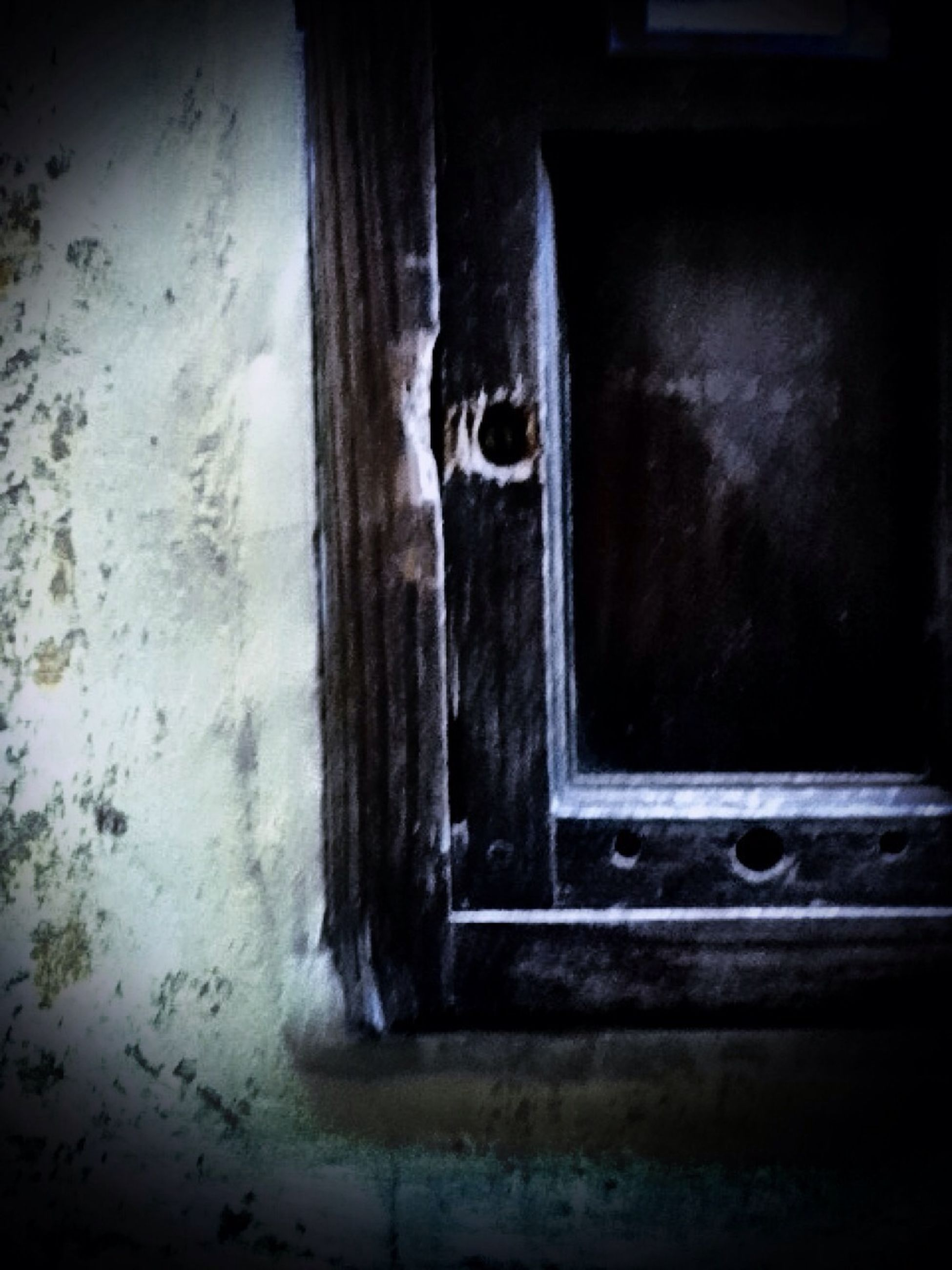 indoors, window, door, built structure, architecture, house, old, abandoned, wall - building feature, closed, doorway, weathered, wall, damaged, obsolete, wood - material, close-up, no people, deterioration, entrance
