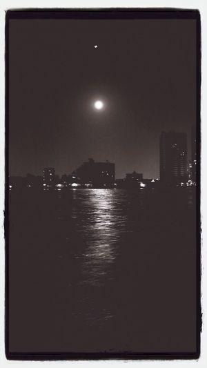 Chao Phaya river, Bangkok Bangkok Chao Phaya River Night Lights; By Chao Phaya River, BKK, THA