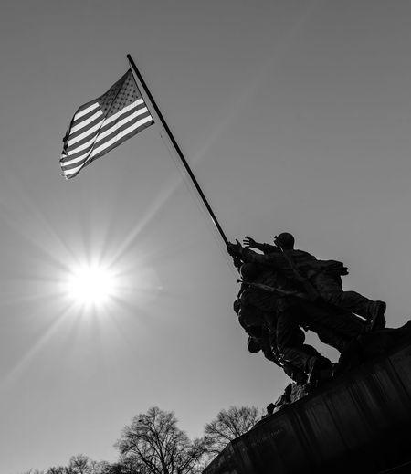 Alexandria America Arlington  Columbia Corp District Flag HERO International Landmark Iwo Jima Joe Marine Memorial Popular Raising Rosenthal Showcase: January Sight Sightseeing The US MARINES USA Virginia War Washington, D. C.