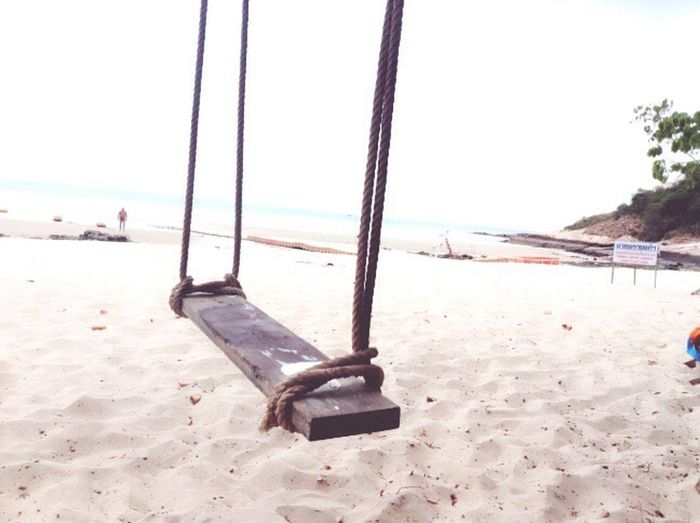 Alone Vintage ทะเล Sea Beach sand Swing