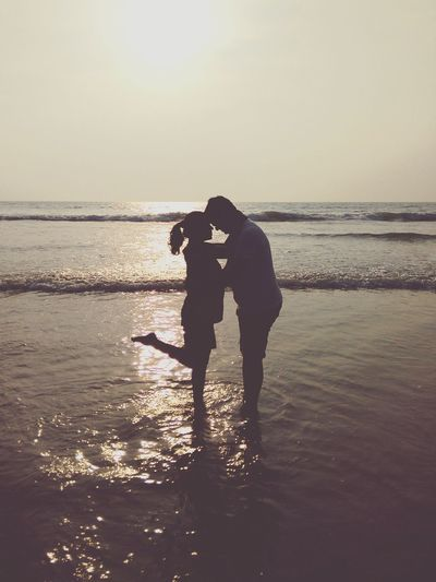 Engaged. Proposal Love Gokarna Beachcouple