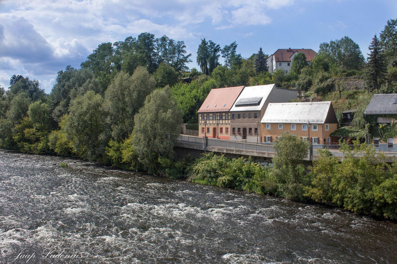 River View Beauty In Nature Building Exterior Built Structure Colditz Day No People Outdoors River Water