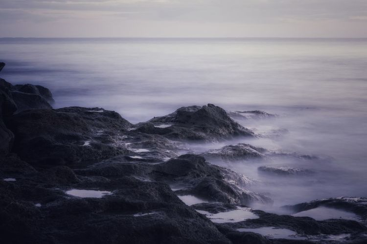 Wave Water Sea Beach Sunset Beauty Fog Rock - Object Dawn Sky