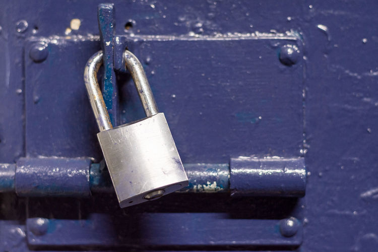 Close-up of padlock