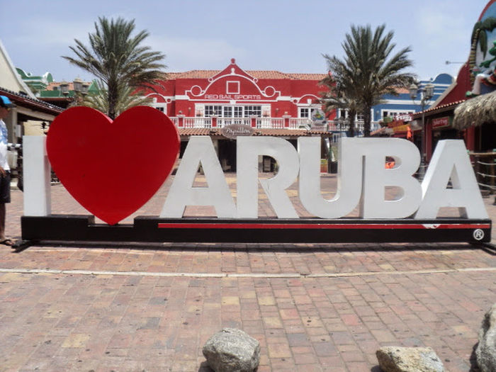 Aruba One Happy Islan Sunny Day Vacation Time Aruba Red Heart Shape No People Outdoors Celebration Architecture Travel Destinations Tree Day Sky