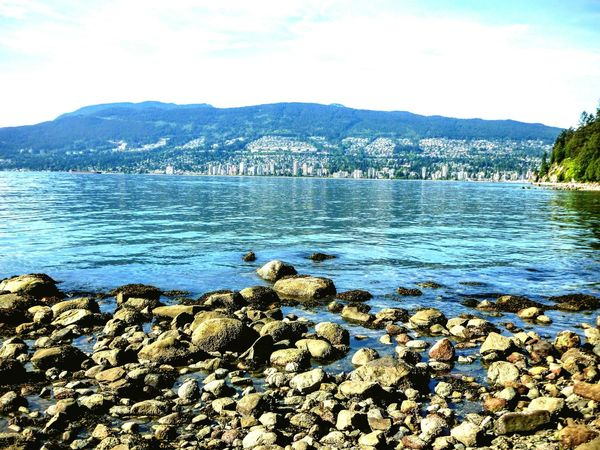 💙English Bay Stanley Park Beach Vancouver, BC 💙 Hidden Gems  Beachphotography Beach Photography Beach Life Beach View Ocean Ocean View Vancouver BC Vancouver Blue Water Blue Sea... Blue Sky And Sea Blue The Colour Blue Seaside Rocks And Water