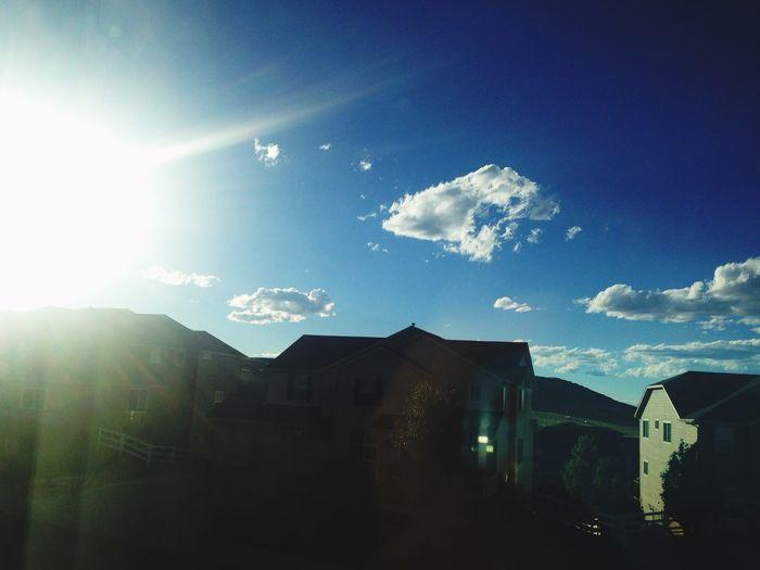View from my window✌🏼️ Colorado Sky Clouds Sun First Eyeem Photo